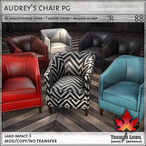 audreys chair PG L88