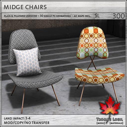 midge chairs sales L300