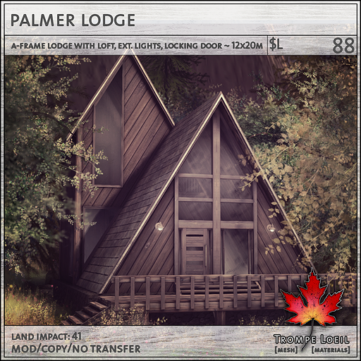 palmer lodge sales L88
