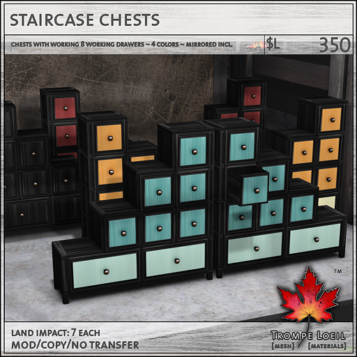 staircase chests sales L300