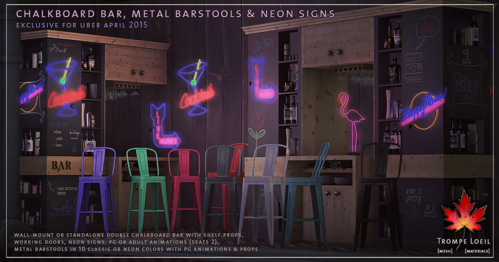 Trompe Loeil - Chalkboard Bar for Uber April 2015
