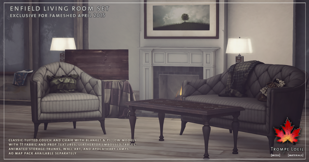 Trompe Loeil - Enfield Living Room Set