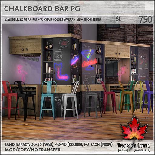 chalkboard bar PG L750