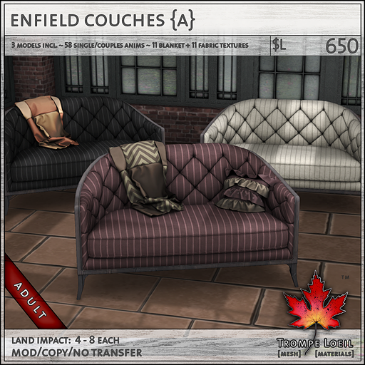 enfield couches Adult sales L650