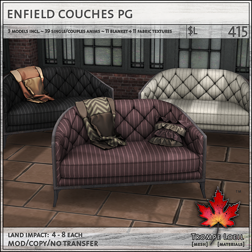enfield couches PG sales L415
