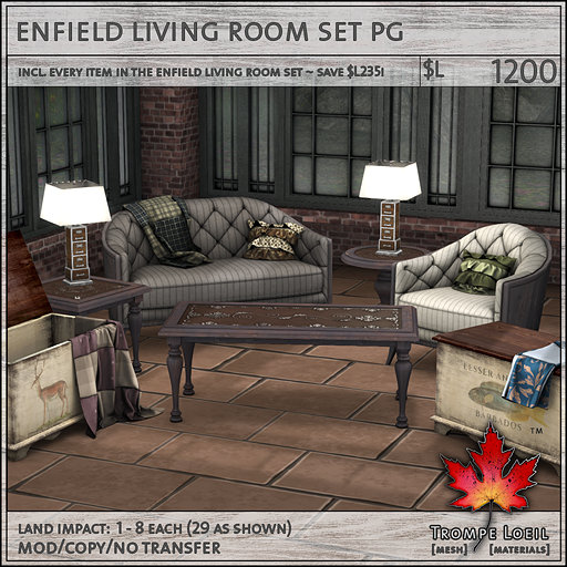enfield living room set L1200
