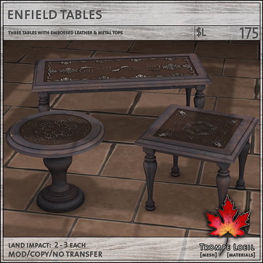 enfield tables sales L175