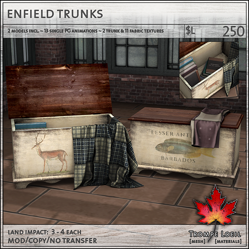 enfield trunks sales L250