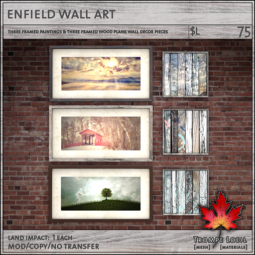 enfield wall art sales L75