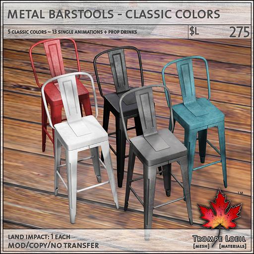 metal barstools classic sales L275