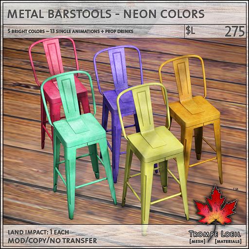metal barstools neon sales L275
