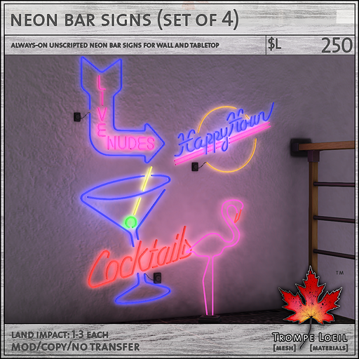 neon bar signs sales L250