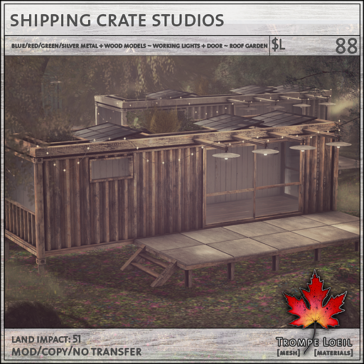 shipping crate studios sales L88