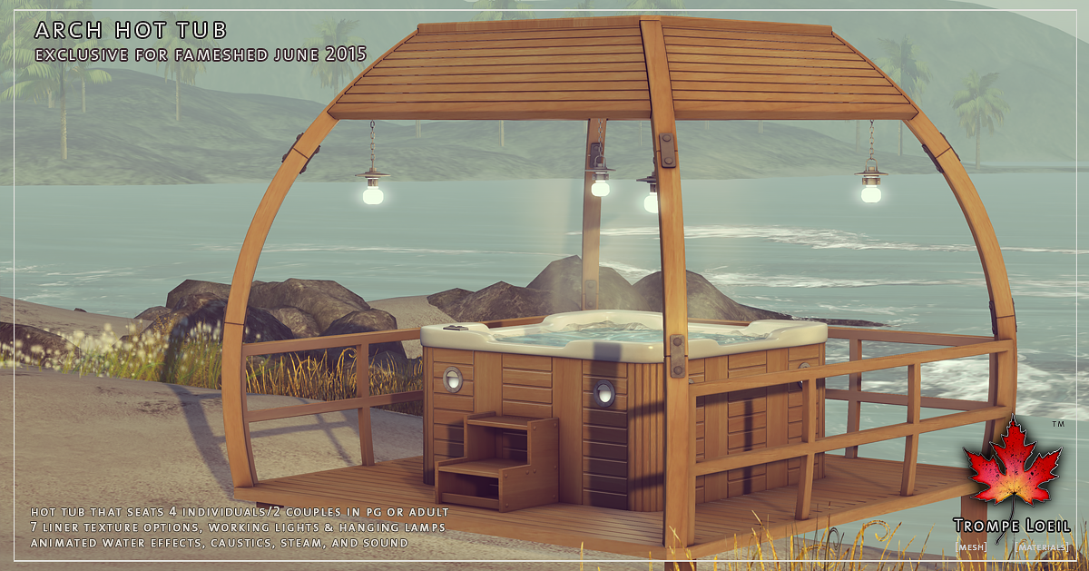 Arch Hot Tub for FaMESHed June