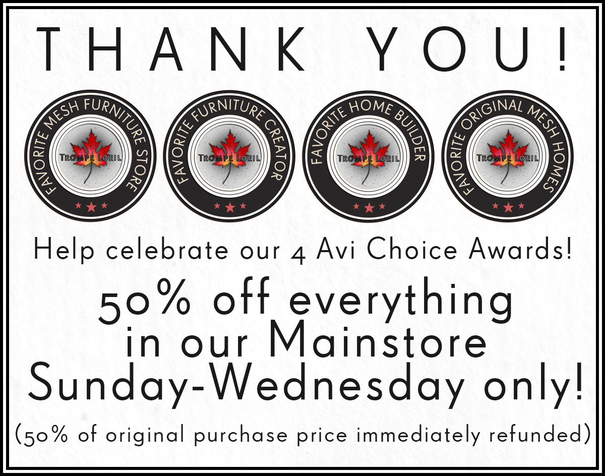 Trompe Loeil Wins 4 Avi Choice Awards – 50% Off Sale Until Wednesday!
