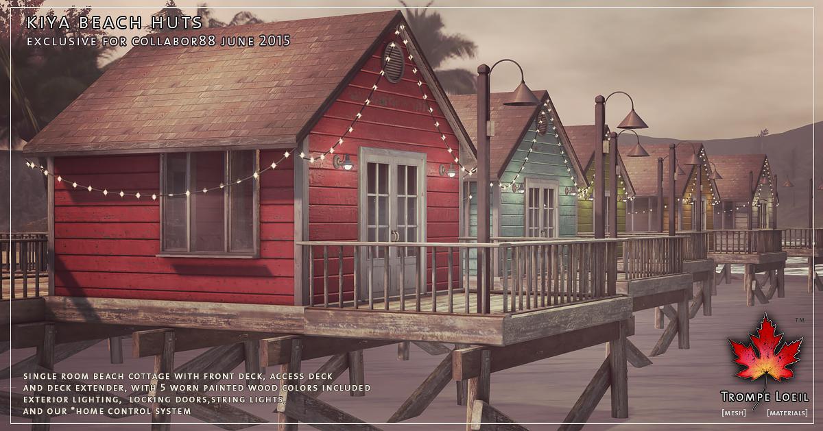 Kiya Beach Huts and Kiya Loungers for Collabor88 June