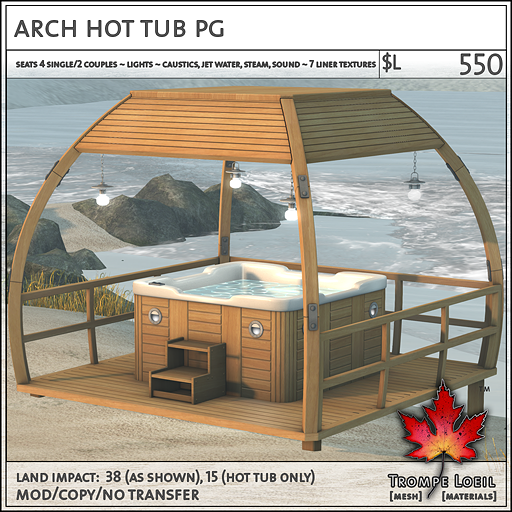 arch hot tub sales PG L550