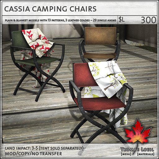 cassia camping chairs L300