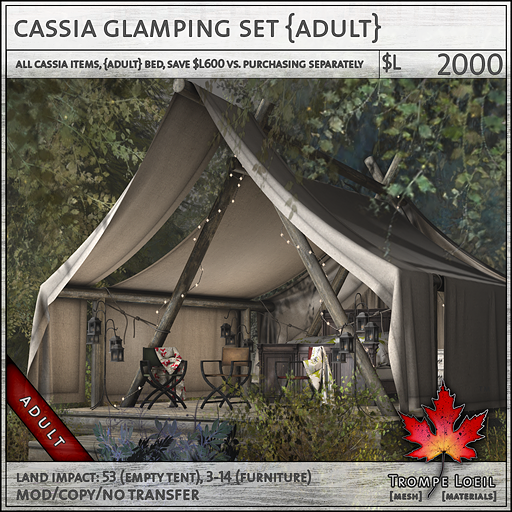 cassia glamping set Adult 2000