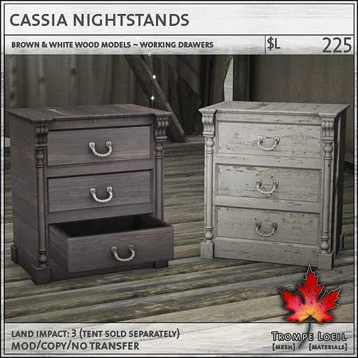 cassia nightstands L225