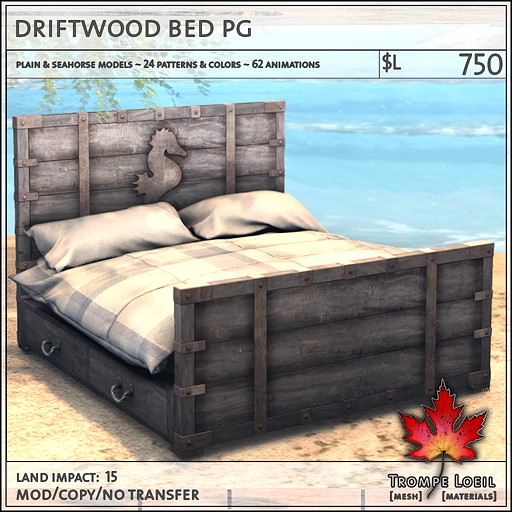 driftwood bed PG L750