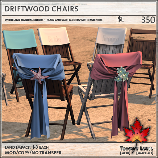 driftwood chairs L350