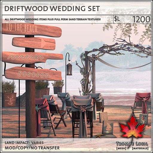 driftwood wedding set L1200