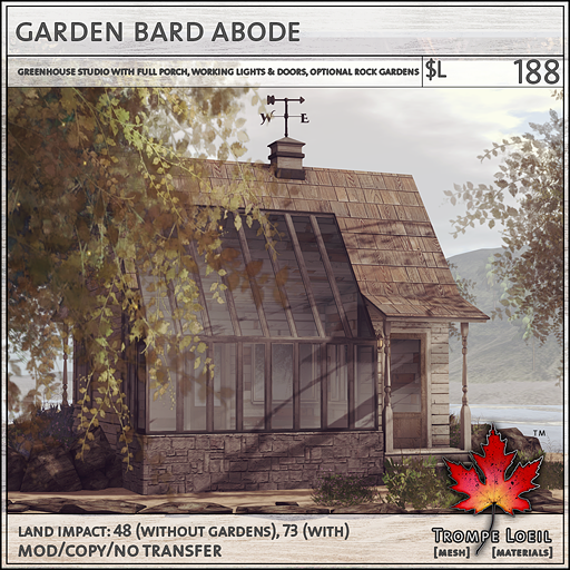 garden bard abode sales L188