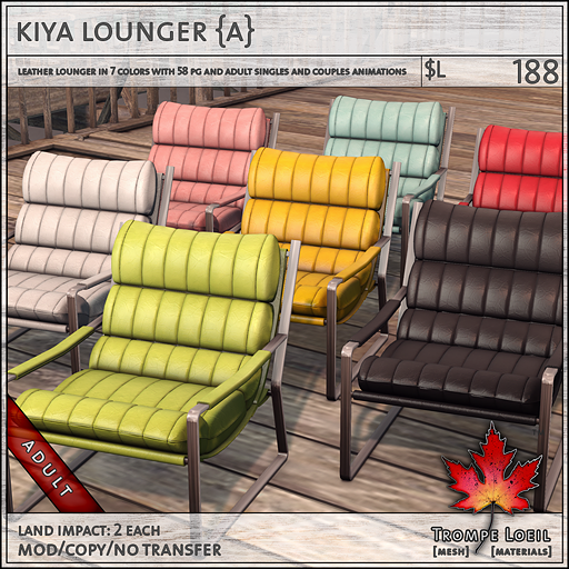 kiya lounger Adult L188