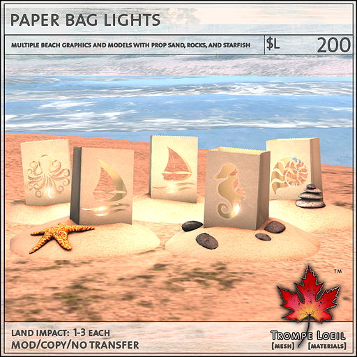 paper bag lights L200
