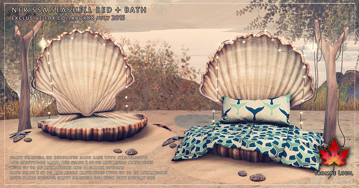 Nerissa Seashell Bed and Bath for Collabor88 July