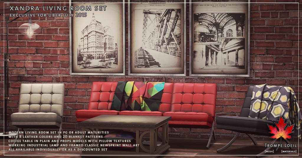 Trompe Loeil - Xandra Living Room Set for Uber July