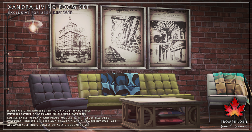 Trompe Loeil - Xandra Living Room Set for Uber July 2