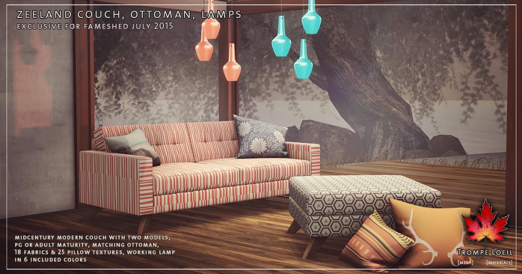 Trompe Loeil - Zeeland Couch Ottoman Lamps Promo