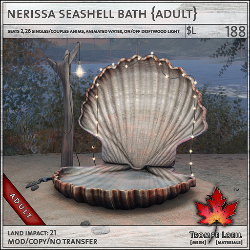 nerissa seashell bath adult L188