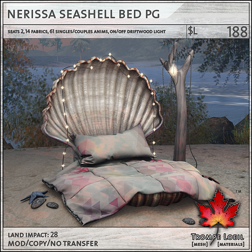 nerissa seashell bed PG L188