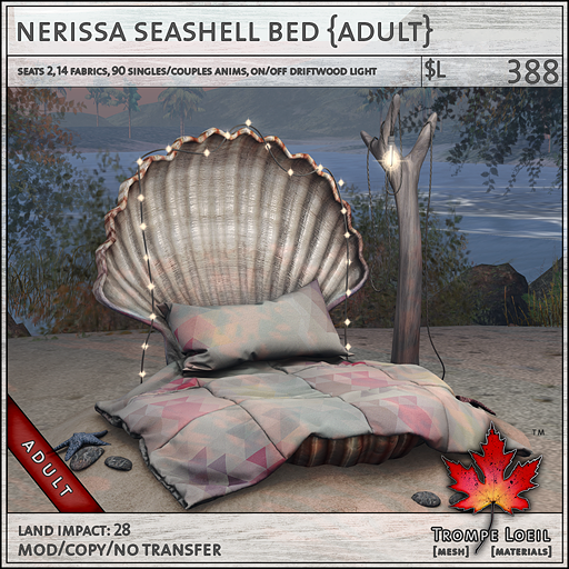 nerissa seashell bed adult L388