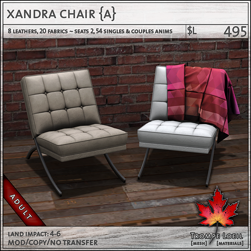 xandra chair Adult L495