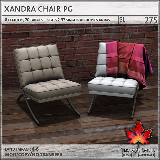 xandra chair PG L275
