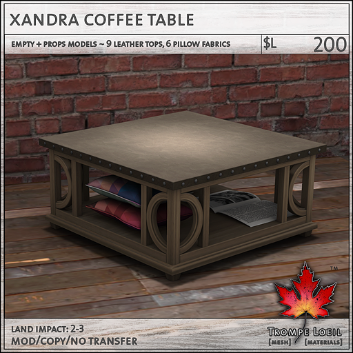 xandra coffee table L200