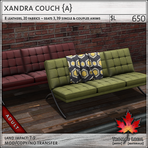 xandra couch Adult L650