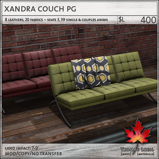 xandra couch PG L400