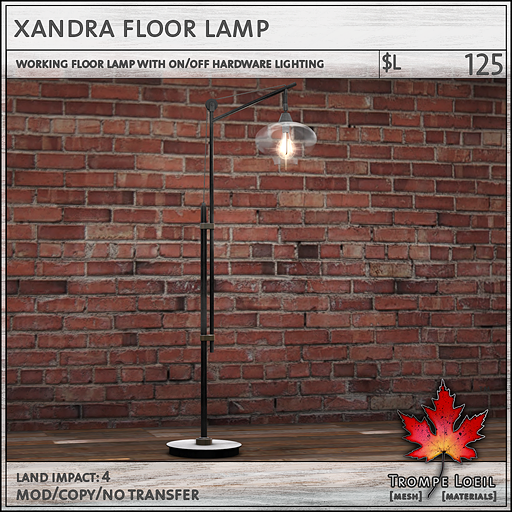 xandra floor lamp L125
