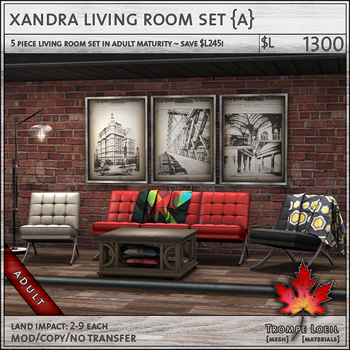 xandra living room set Adult L1300