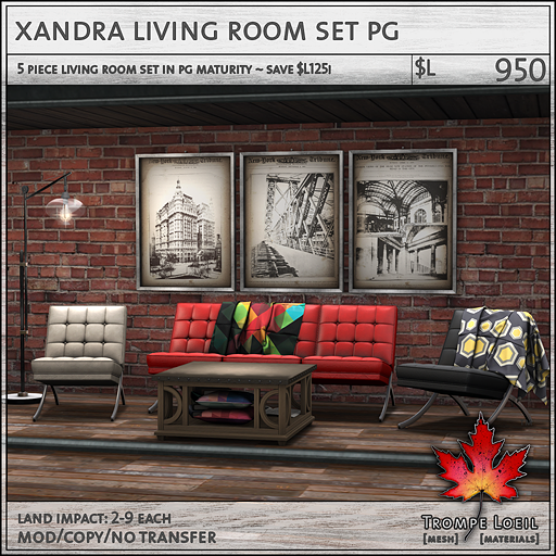xandra living room set PG L950