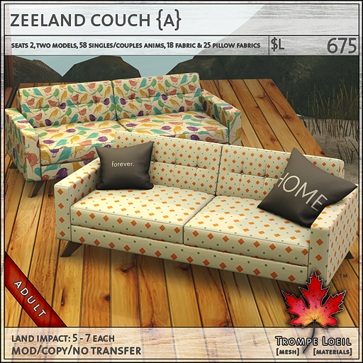 zeeland couch Adult L675