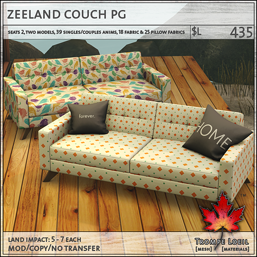 zeeland couch PG L675