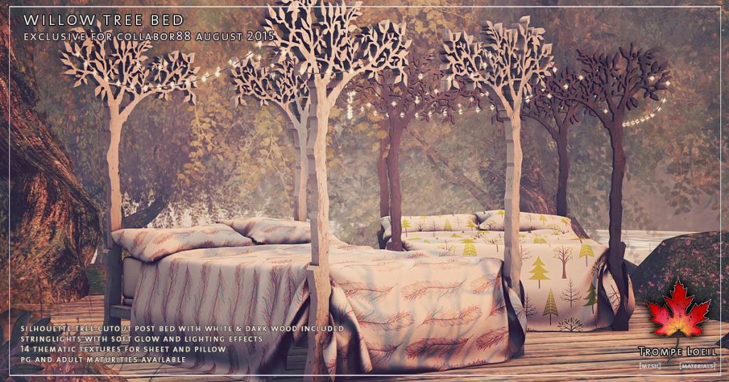 Trompe Loeil - Willow Tree Bed for Collabor88 August 2