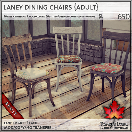 laney dining chairs Adult L650