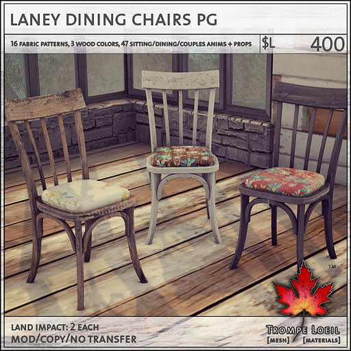 laney dining chairs PG L400